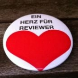 Button Ein Herz für Reviewer