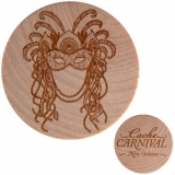 Cache Carnival Wooden Nickel SWAG New Orleans