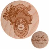 Cache Carnival Wooden Nickel SWAG Venezia