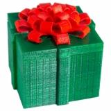 """Dose """"Geschenkbox"""" S grün/rot"""