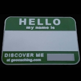 Army Green Name Tag Geocoin
