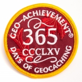 Geo-Achievement® Patch 365 Days of Geocaching
