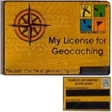 Geocoin My Geocaching License - Yellow