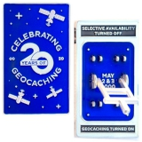 Geocoin Blue Switch 20 Jahre