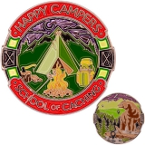 """Geocoin GCC """"Caching and Camping"""""""