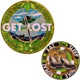 """Geocoin GCC """"Get Lost in Nature"""""""