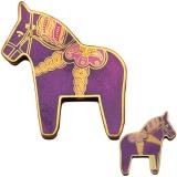 "Geocoin ""Dala Horse Kalle"" purple"