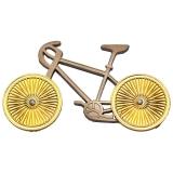 Geocoin Bicycle, Two Tone