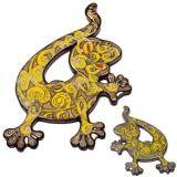 Geocoin Gecko, yellow