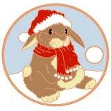 """Pathtag """"Weihnachtshäschen"""""""