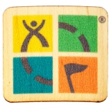 Geocaching Logo Wood Sticker