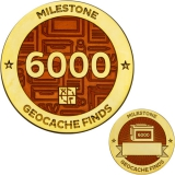 Milestone Geocoin and Tag Set - 6000 Finds