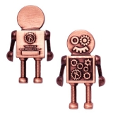 Steampunk Robot Geocoin w/ Travel Tag copper
