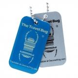 Travel Bug®, QR, Blue, Glow in the Dark