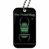 Travel Bug®, QR, schwarz nachleuchtend