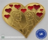 "Geocoin ""Endless Love"" Gold Red LE40"